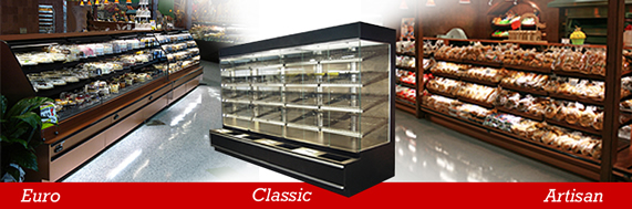Bakery and pastry cases from R& D Fixtures