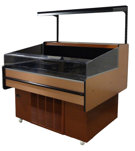 Low Back Mobile Merchandiser with Copper Laminate finish