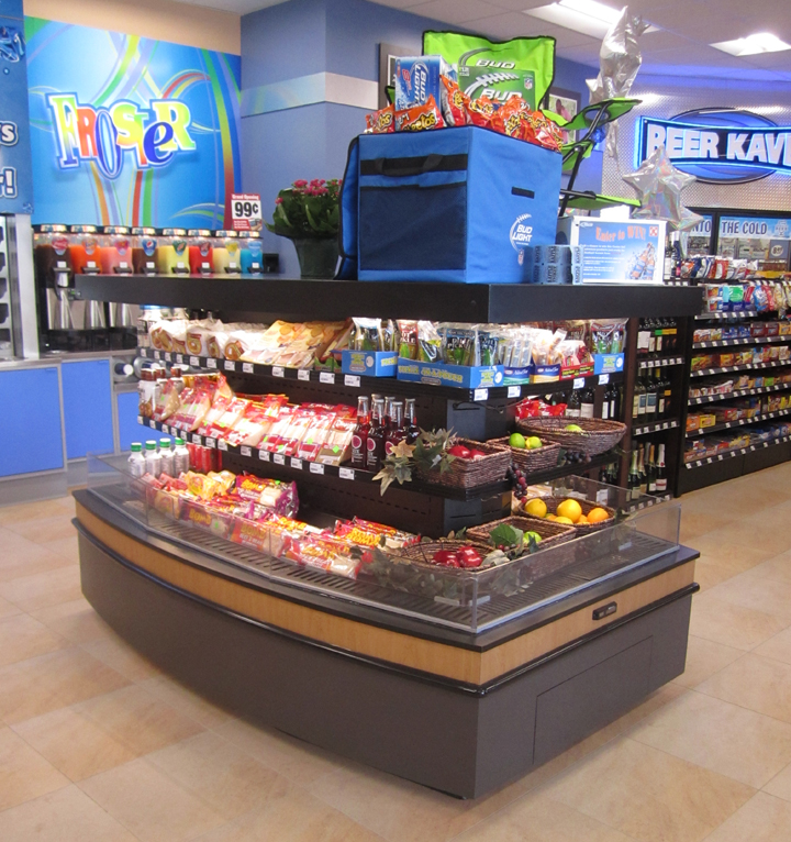 Refrigerated Low Profile Island Merchandiser